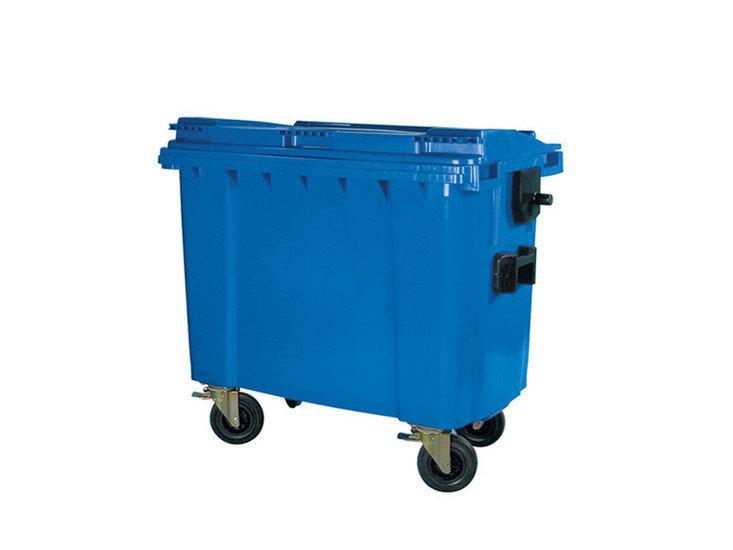 Rolcontainer huren 660 liter bedrijfsafval