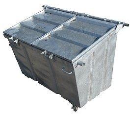 Rolcontainer huren 2500 liter bedrijfsafval