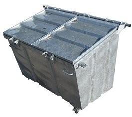 Rolcontainer huren 2500 liter papier en karton
