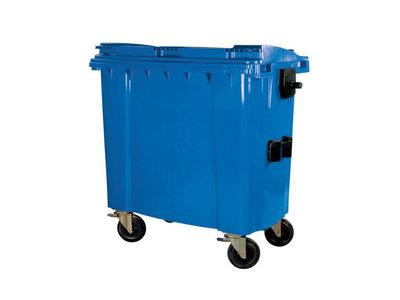 Rolcontainer huren 750 liter bedrijfsafval